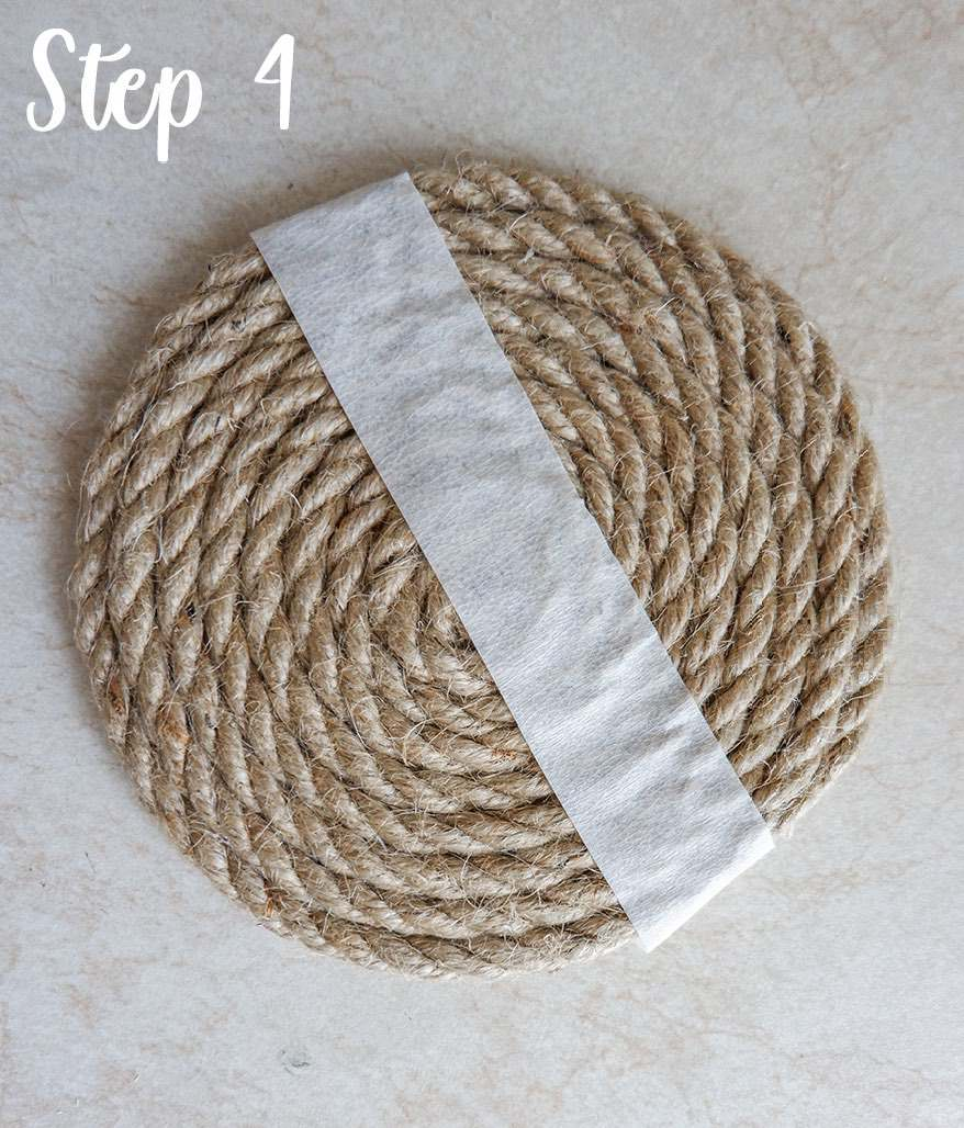 Easy rope coaster craft step by step 3