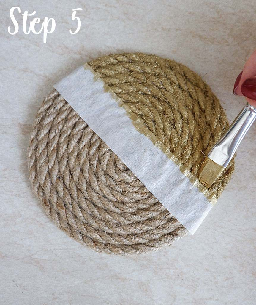 Easy rope coaster craft step by step 4