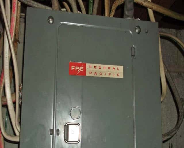 Federsl Pacific Panel Circuit Breaker Box