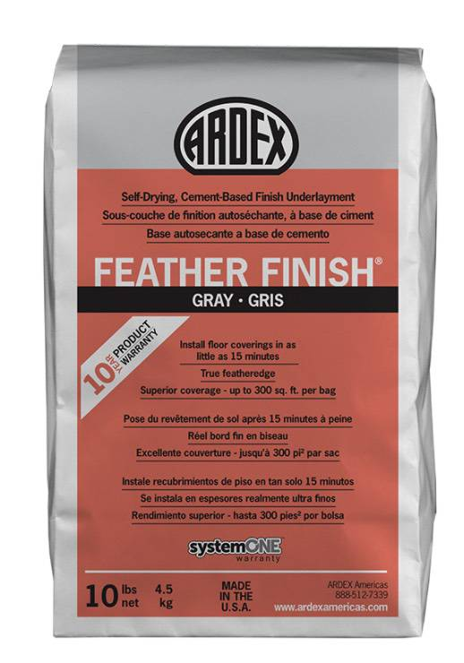 Feather finish cement coat