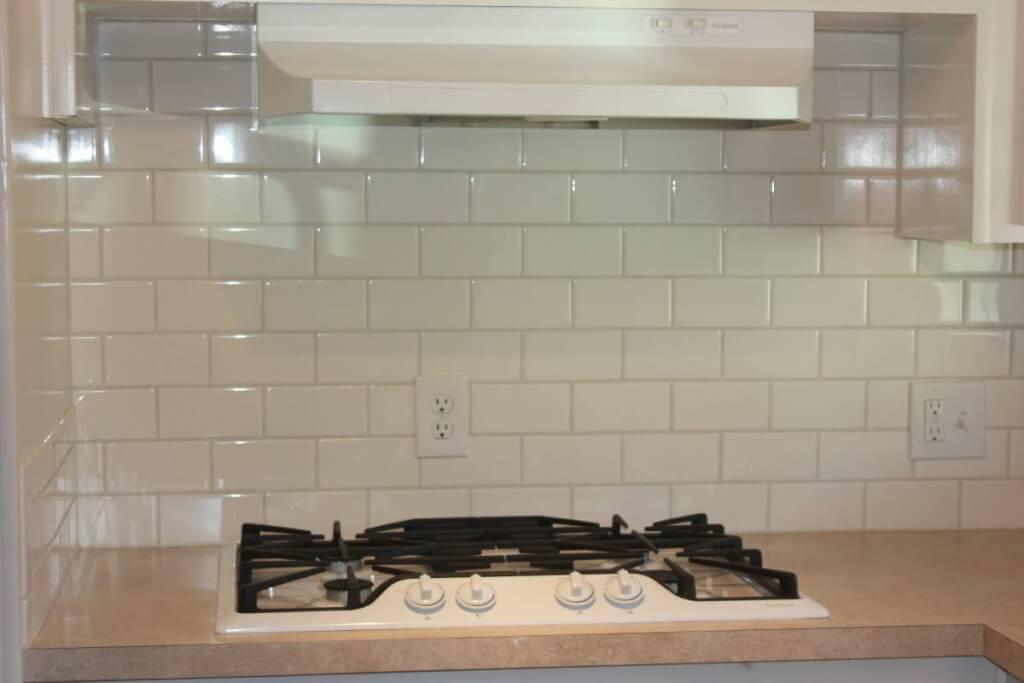 Fully remodeled manufactured home in san fran kitchen subway tile backsplash 1
