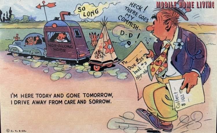 Funny vintage trailer and mobile home postcards1 1