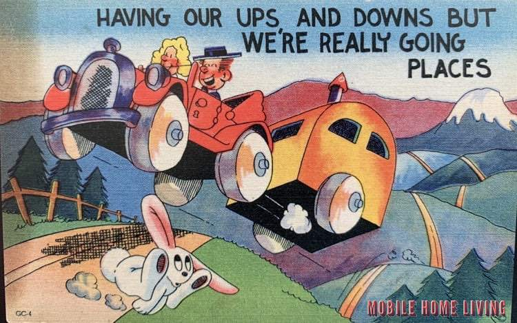 Funny Vintage Trailer And Mobile Home Postcards11 1