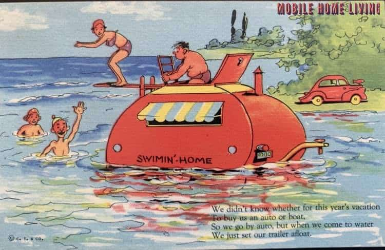 Funny Vintage Trailer And Mobile Home Postcards12 1