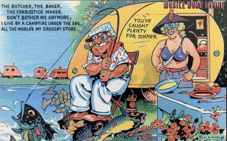 Funny Vintage Trailer And Mobile Home Postcards2 1
