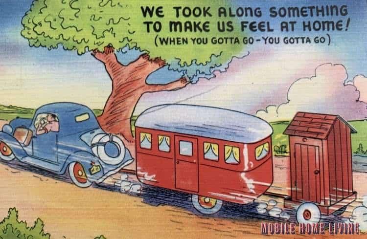 Funny Vintage Trailer And Mobile Home Postcards3 1
