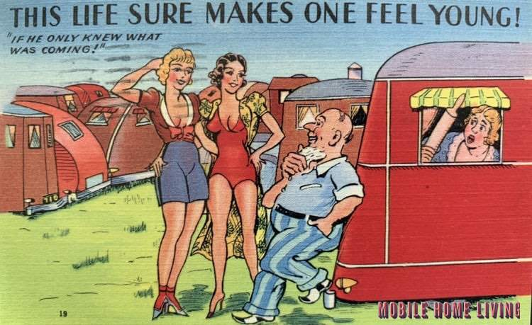 Funny Vintage Trailer And Mobile Home Postcards5 1