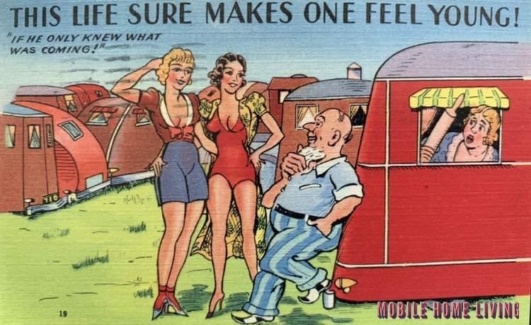 Funny Vintage Trailer And Mobile Home Postcards5 1