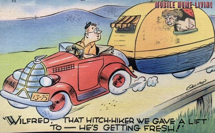 Funny Vintage Trailer And Mobile Home Postcards6 1