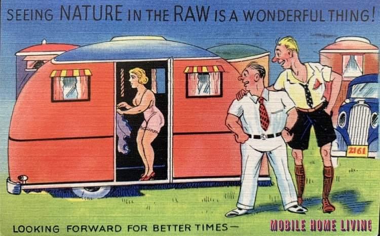 Funny Vintage Trailer And Mobile Home Postcards7 1