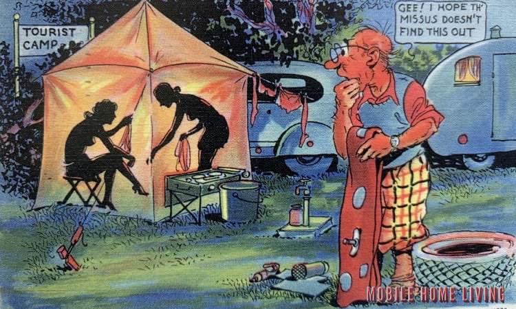 Funny Vintage Trailer And Mobile Home Postcards8 1