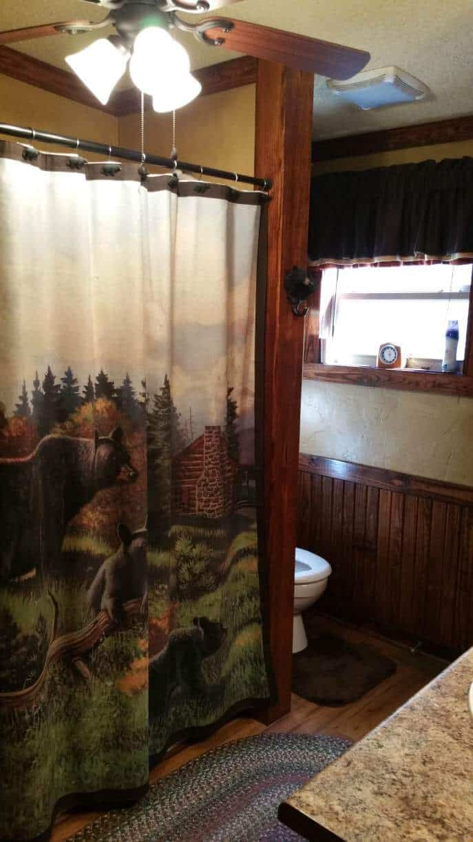Rustic cabin manufactured home remodel - bathroom 2