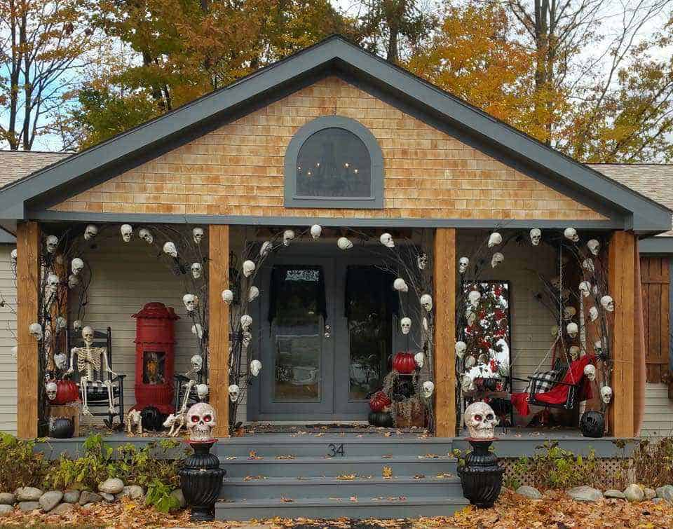 Halloween decor manufactured home porch decor 2018 b