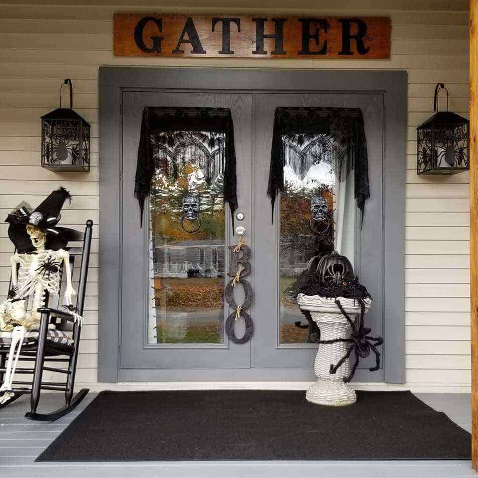 Halloween Decor Manufactured Home Porch Decor Doors