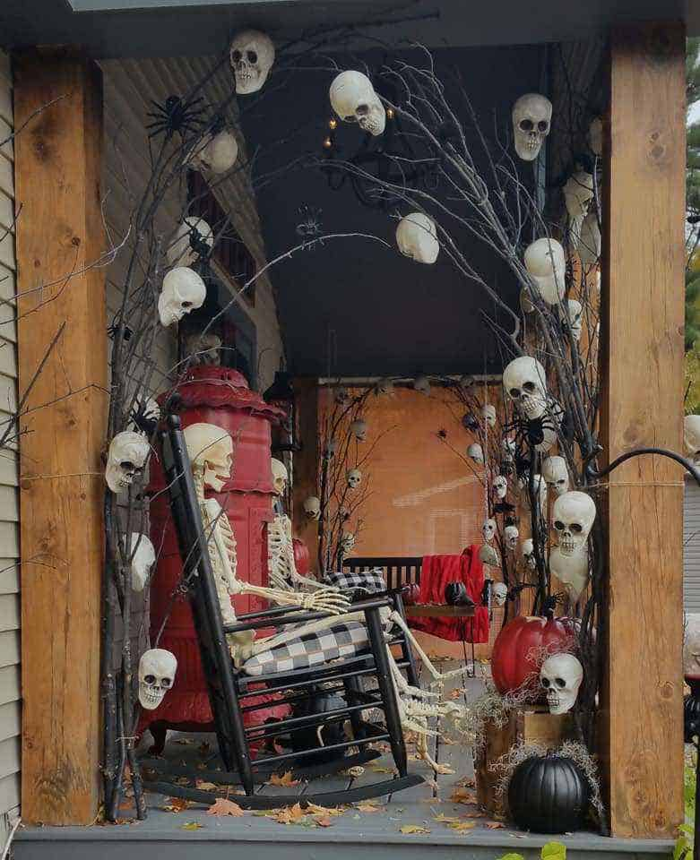 Halloween Decor Manufactured Home Porch Decor Skeleton Arch
