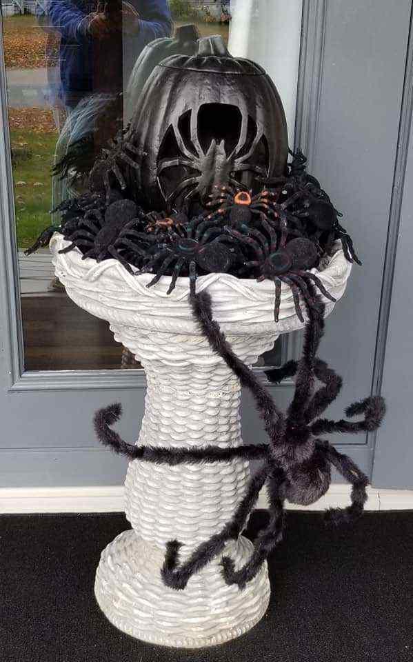 Halloween Decor Manufactured Home Porch Decor Spider Babies