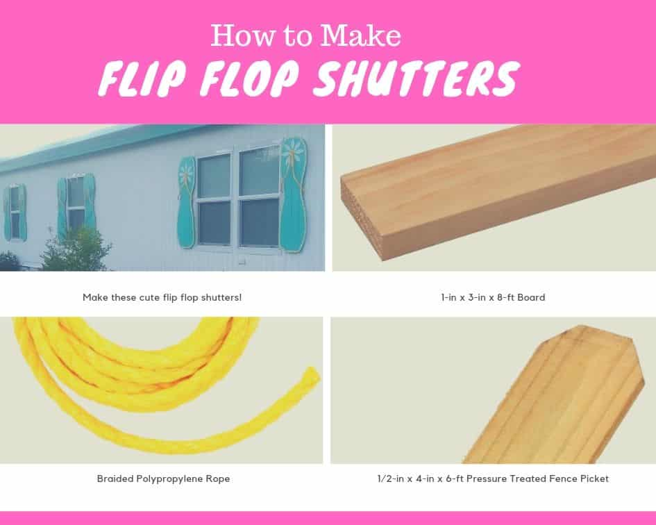 How To Make Flip Flop Shutters 1