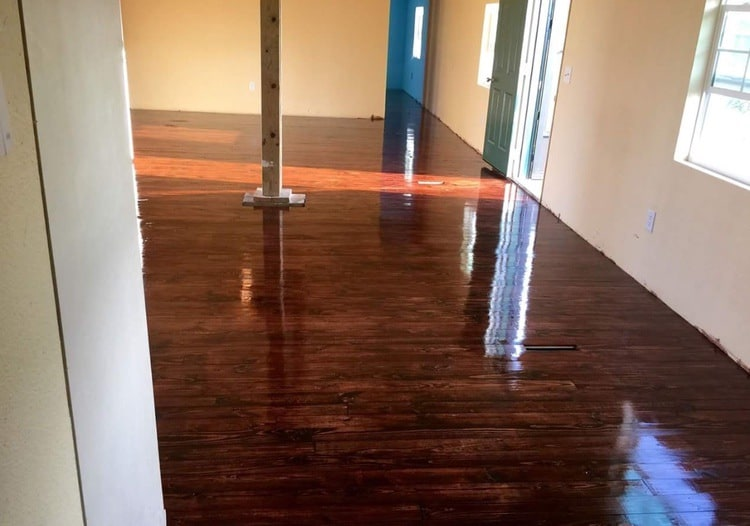 staining new floors in mobile home
