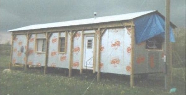 Lean-to Design Used on Self-Supporting Roof Over design example