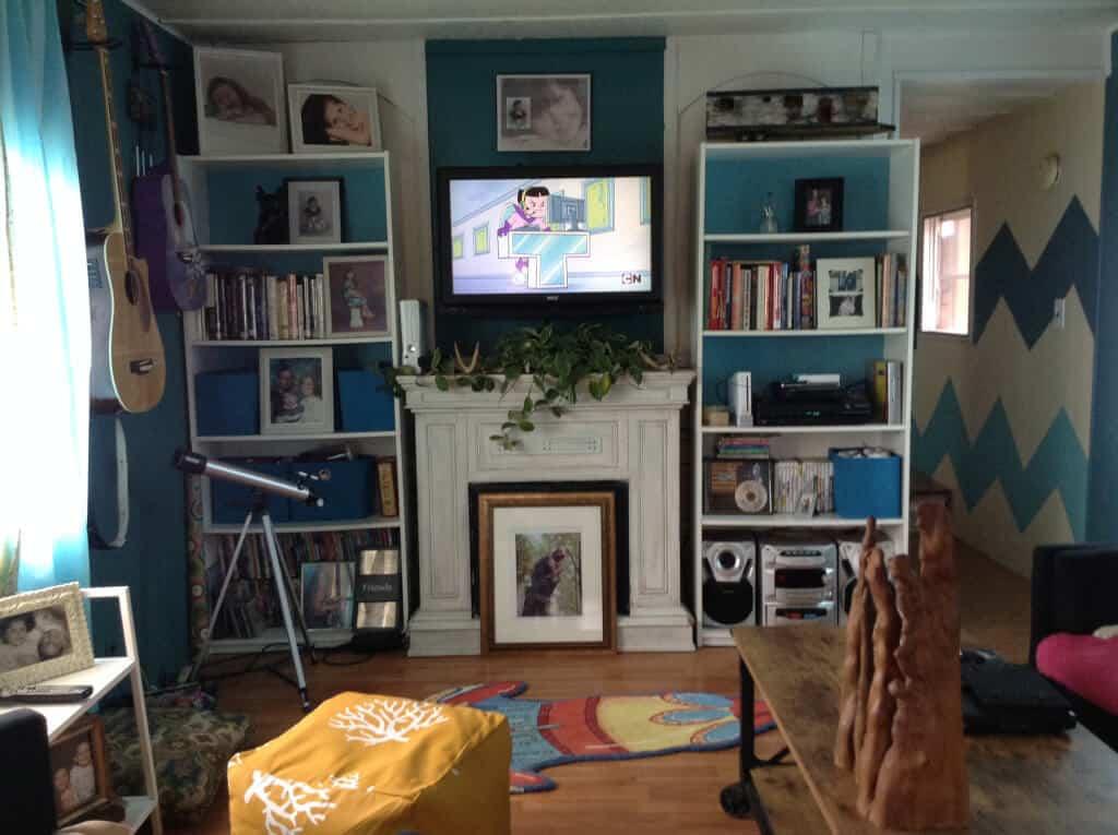 1978 single wide living room after makeover