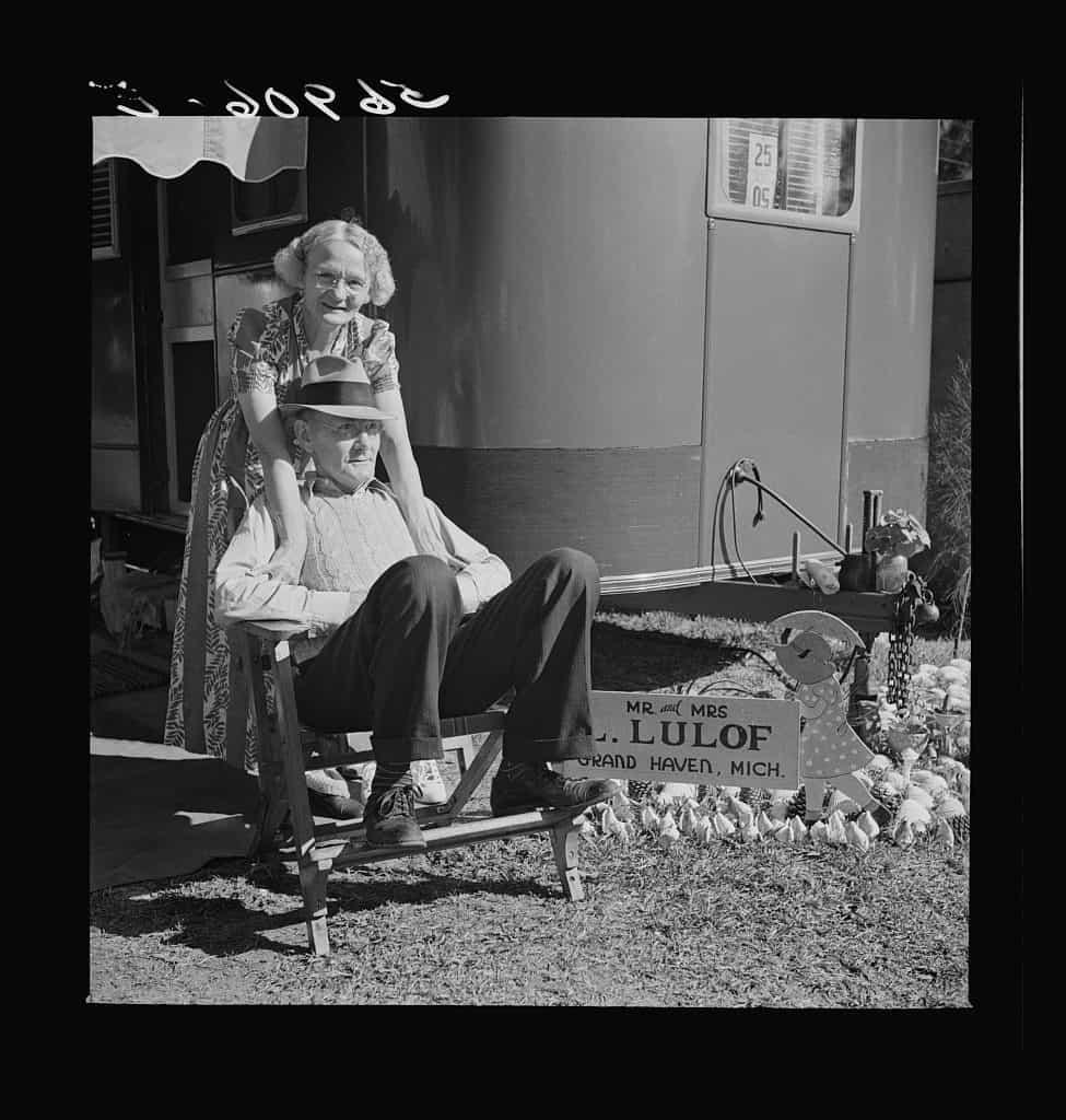 January 1941 High Class Caravan Camp in Sarasota LOC Copy