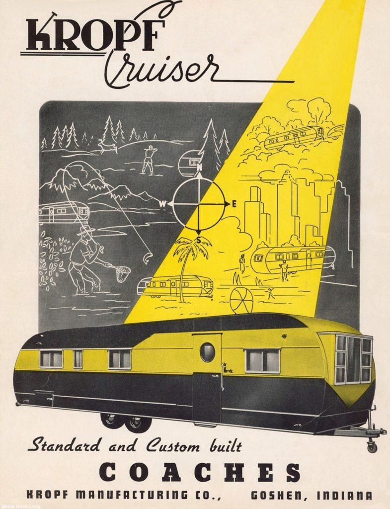 Kropf Cruiser Vintage Mobile Home Trailer Ad