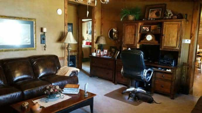 Rustic Cabin Manufactured Home Remodel - Living Room 2