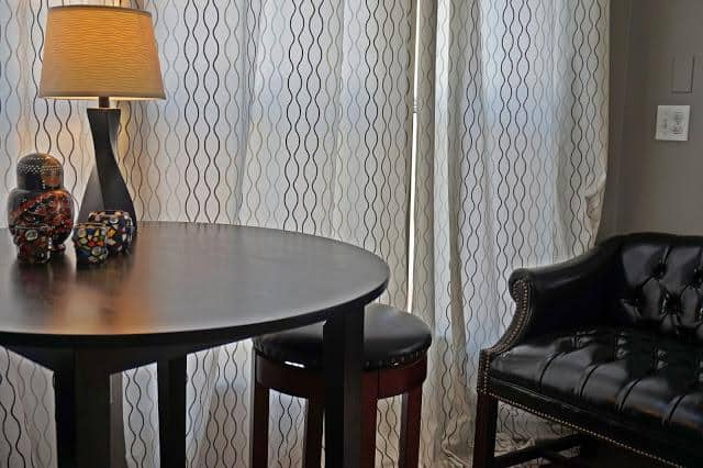 modern beach style manufactured home makeover - after living room2