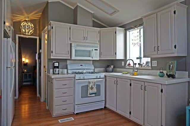 modern beach style manufactured home makeover - after 2