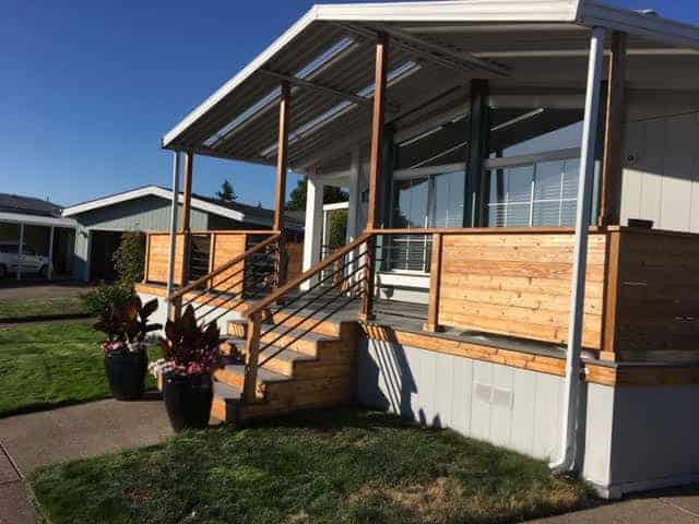 Modern Porch Design On Double Wide Manufactured Home Jim And Connie Fickel