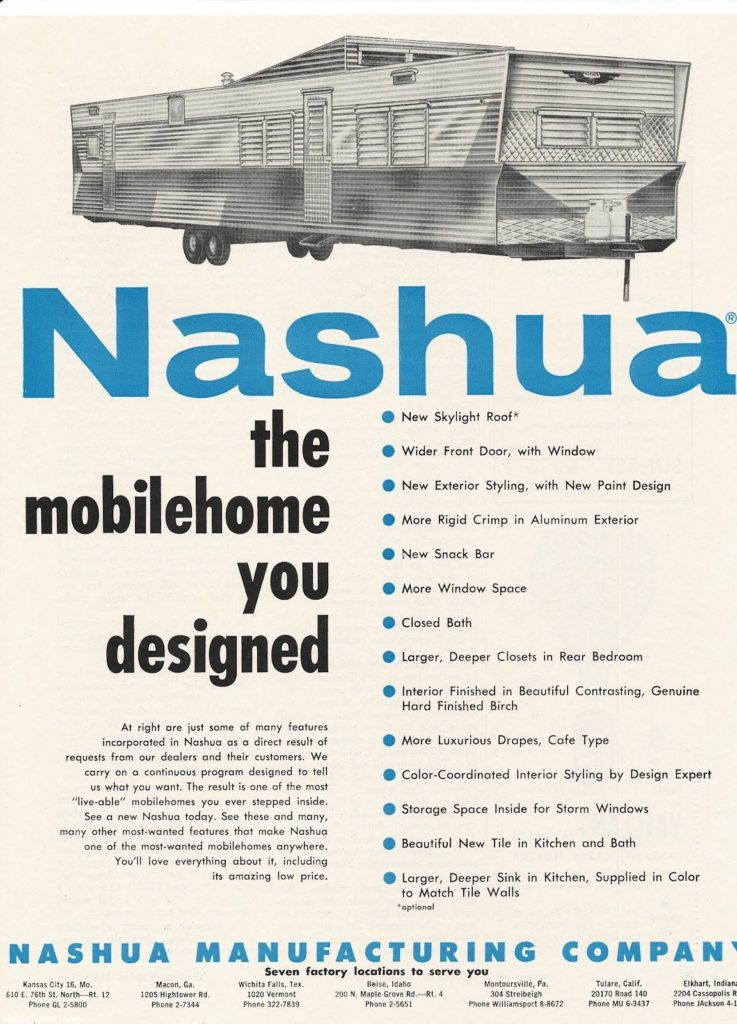 Nashua Mobile Home Ad