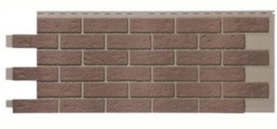 Novik red used blend simulated brick skirting panel