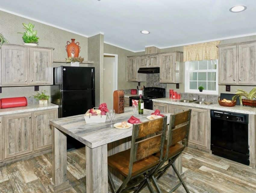 Oak Creek Homes Magnificient Seven Model Kitchen