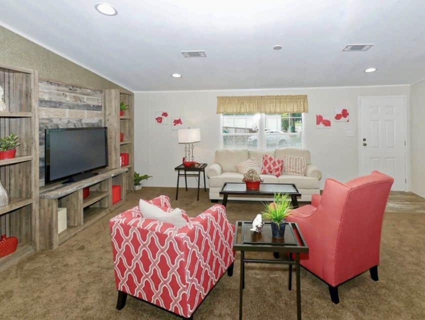 Oak Creek Homes Magnificient Seven Model Living Room