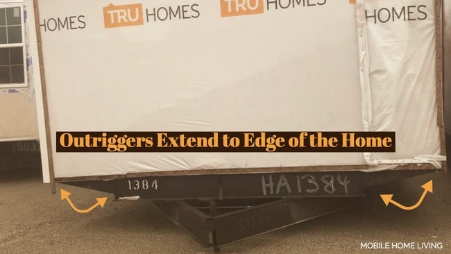 Buying a new manufactured home - outriggers to the edge of the home