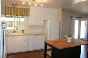 Painted Kitche Cabinets In Remodeled Manufactured Home In San Fran Kitchen 1