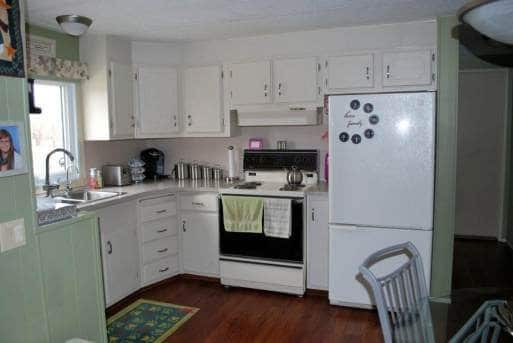 1978 fleetwood single wide - painted kitchen cabinets