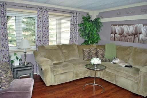Lavender Living room in single wide