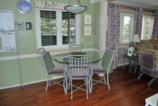 Dining Room in mobile home