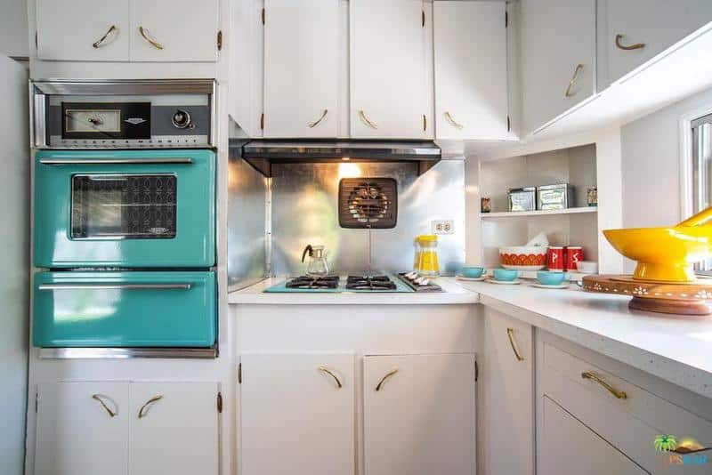 1962 skyline is a vintage mobile home beauty - kitchen 2