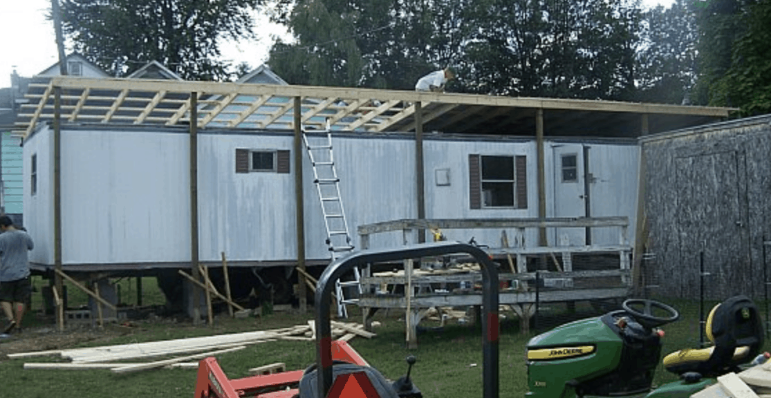 new roof going over mobile home