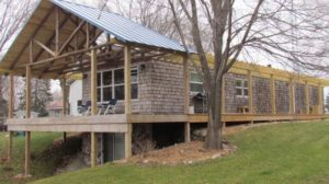 single wide exterior remodel - deck roofing,