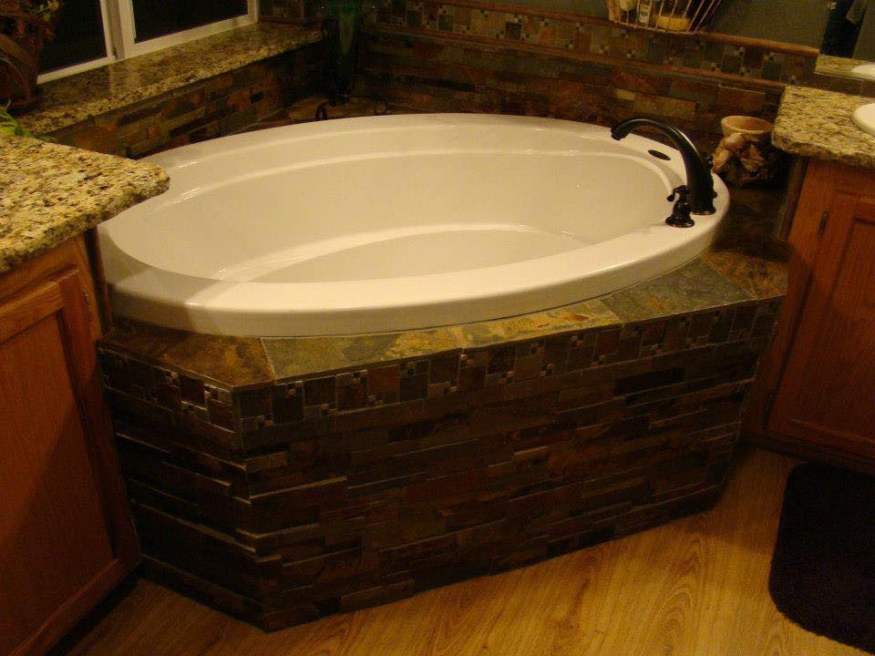 Tracey fields double wide manufactured home remodel bathroom w garden tub