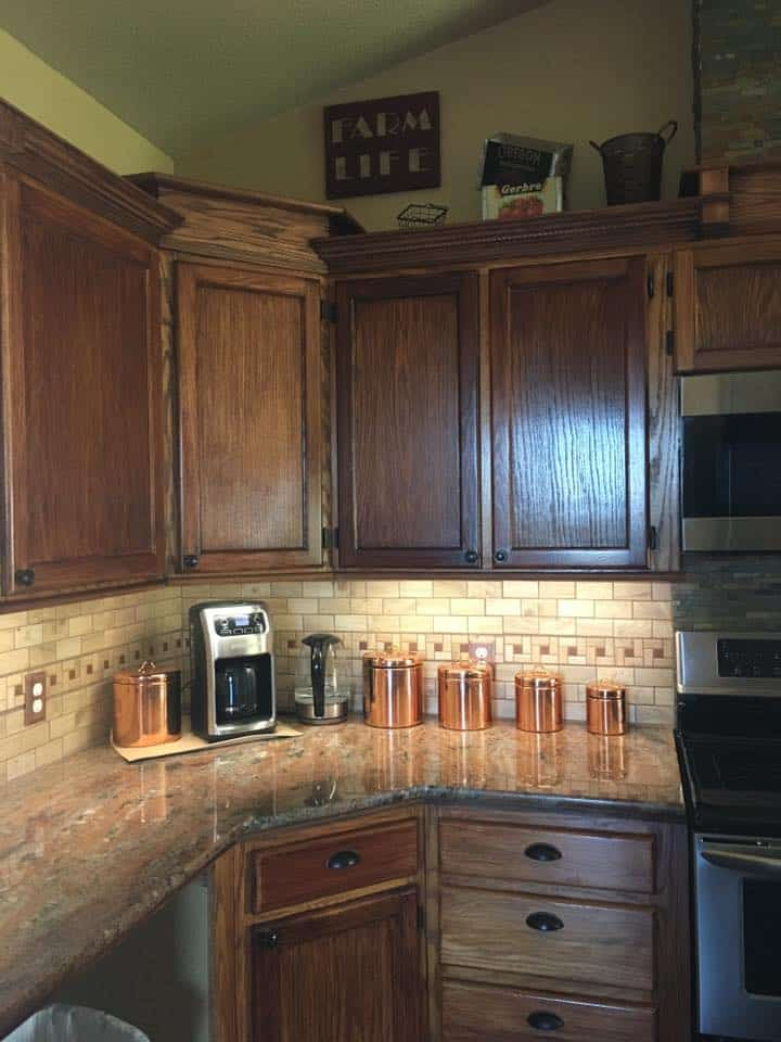 Tracey fields double wide manufactured home remodel kitchen after