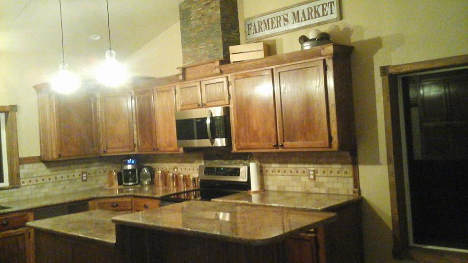 Tracey fields double wide manufactured home remodel kitchen