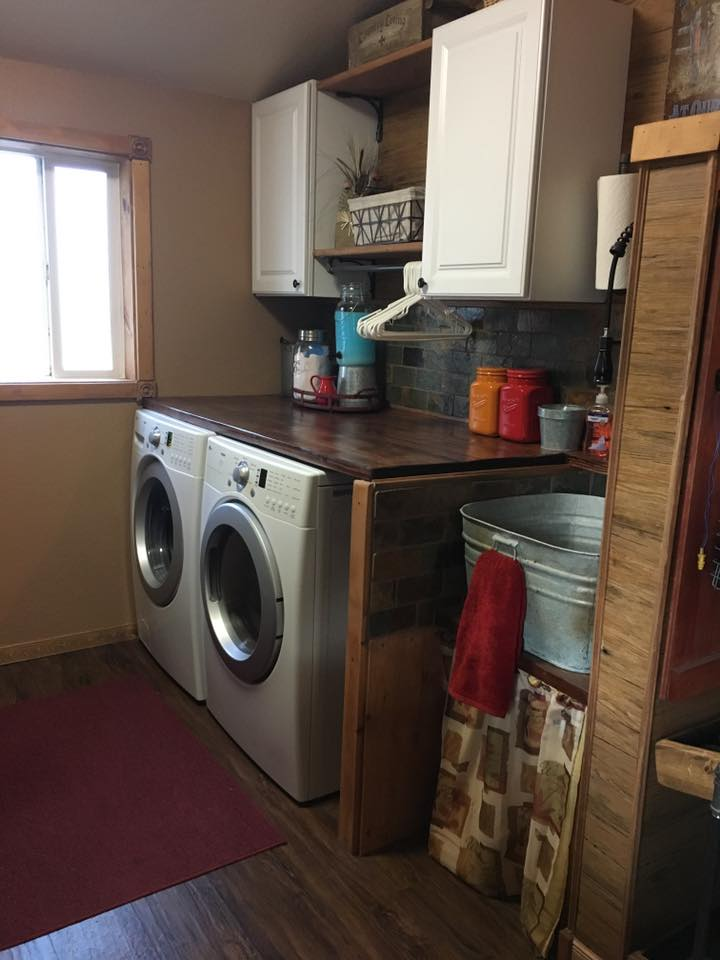 Tracey fields double wide manufactured home remodel laundry room