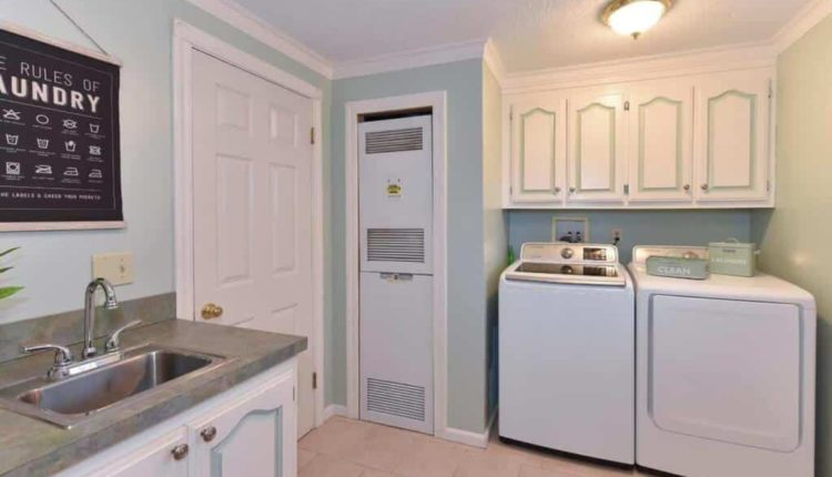 Utility Room Laundry Center And Furnace In Manufactured Home 1 1