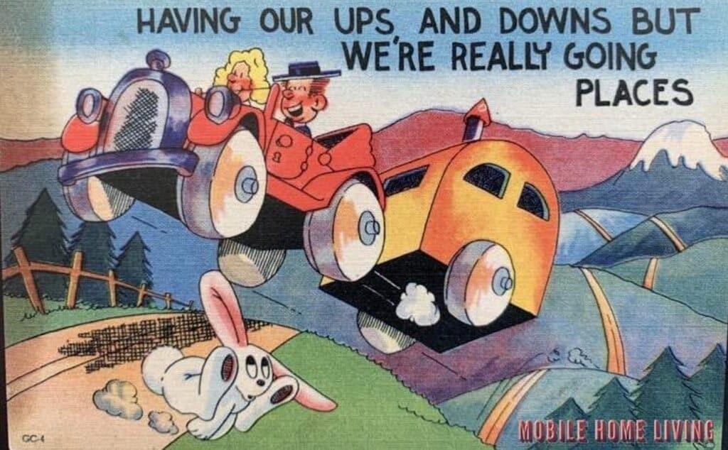 Vintage Mobile Home Postcards