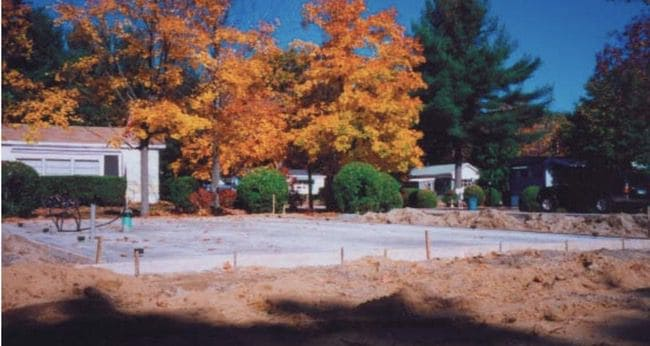 a manufactured home site prepped