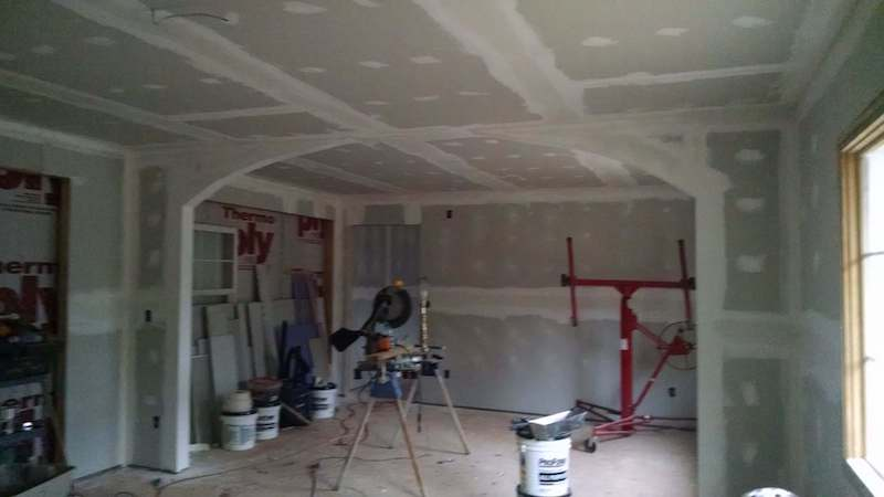 adding an addition to your house - interior drywall in manufactured home addition